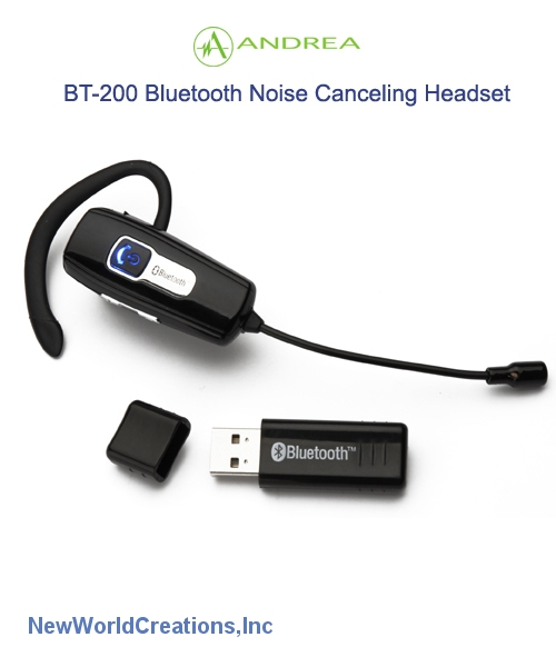 Andrea electronics bt200 noise canceling bluetooth headset